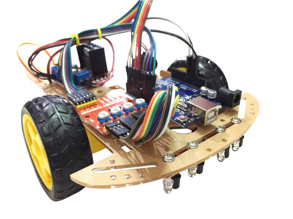 ชุดประกอบรถวิ่งตามเส้น (Arduino Line Following Car Robot)