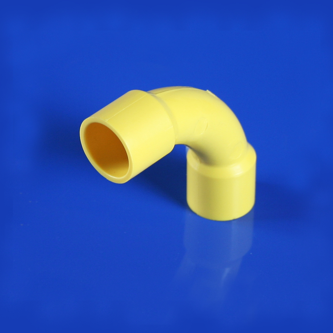 Short Bend 90 ข้อโค้ง 90 ช่วงสั้น สีเหลือง