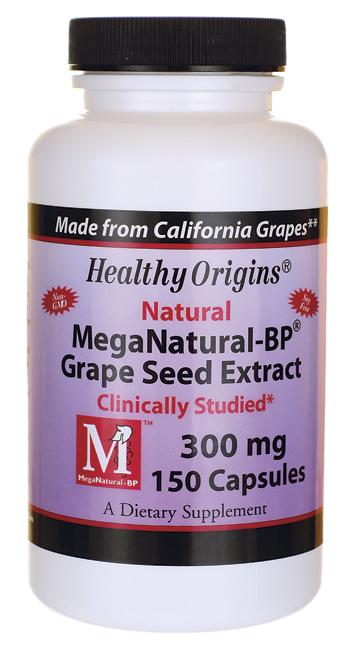 Healthy Origins - MegaNatural ® -BP Grapeseed Extract 300 mg 150 Capsules