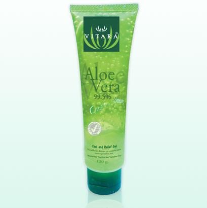 ไวทาร่า อโลเวร่า คูล เจล พลัส 120กรัม หลอดใหญ่ - Vitara Aloe Vera Cool gel plus 120g (burnova) สำเนา