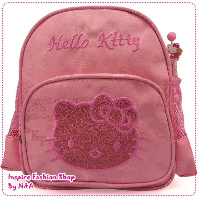 กระเป๋าเป้ Hello Kitty สีชมพู The HelloKitty schoolbag / Hello Kitty Children's shoulder bag, small bags / kitty children