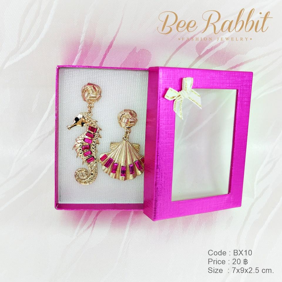 กล่องของขวัญแบบฝาครอบเจาะหน้าต่าง สีชมพูบานเย็น