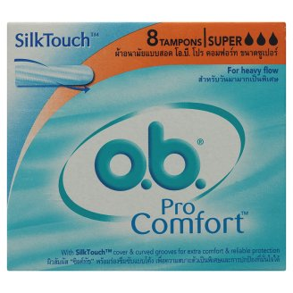 O.B. Pro Comfort Super 1x8's ผ้าอนามัย แบบสอด วันมามาก