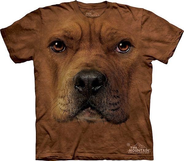 The Mountain Big Face Pitbull Dog T-Shirts