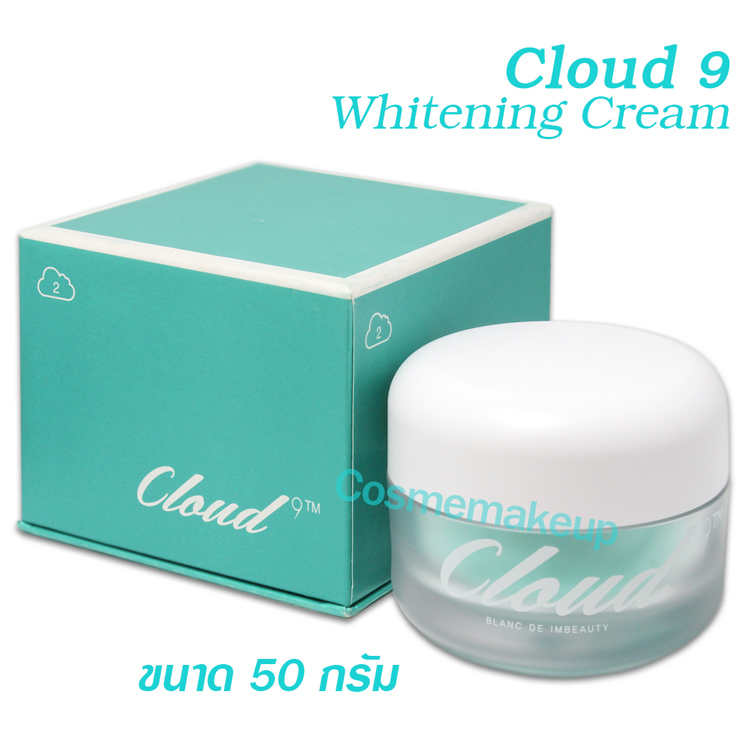 cloud9 blanc de white cream 50 กรัม ของแท้จากเกาหลี ครีม2ประสิทธิภาพทั้งปรับผิวหน้าขาวและลดริ้วรอยพร้อมความชุ่มชื่น12ชั่วโมง ขจัดฝ้า กระ จุดด่างดำ รอยสิว กำจัดเมลานินที่อยู่บนใบหน้า