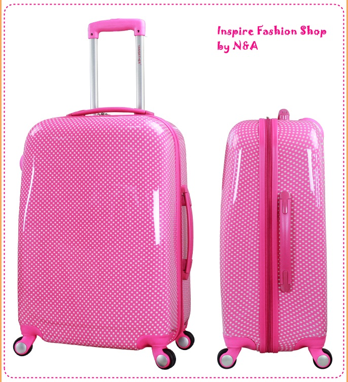 [Preorder] กระเป๋าเดินทางล้อลากสีชมพู (ไซส์ 24 นิ้ว) Vangather authentic Japanese and Korean Fan PC caster trolley case suitcase suitcase board