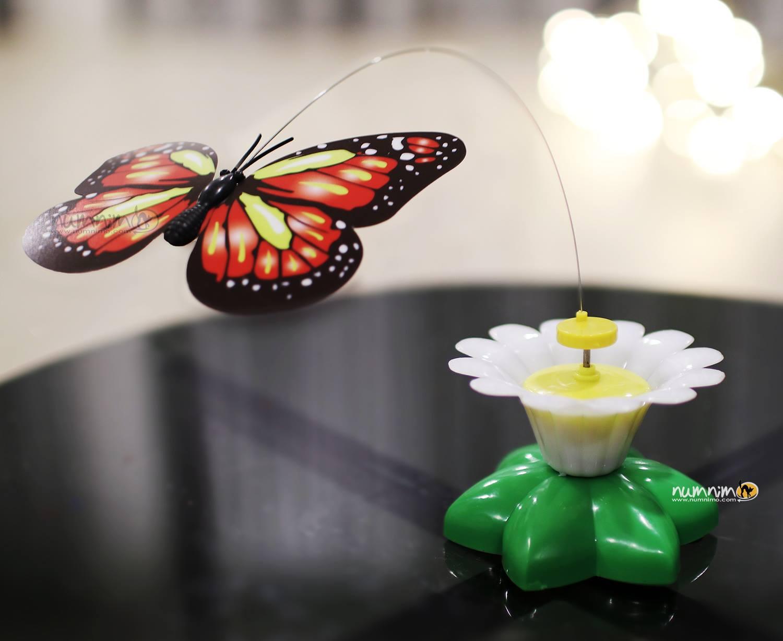 ของเล่นผีเสื้ออัตโนมัติ ฐานดอกไม้