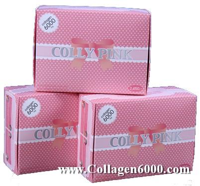 Colly Pink Collagen 6000 (คอลลาเจน เปปไทน์เข้มข้น 6000mg/ซอง) 3กล่องใหญ่ (30ซอง/กล่อง)