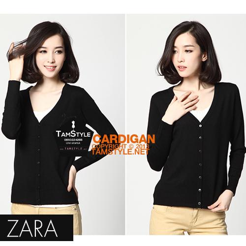 """Big size- เสื้อคลุมแขนยาวZara สีดำ ผ้านิ่มมากกก อันนี้ นำเสนอ จ้า สวยใส่สบาย อก 34-36"""" ยาว 26"""" (เสื้อคลุมพร้อมส่ง)"""