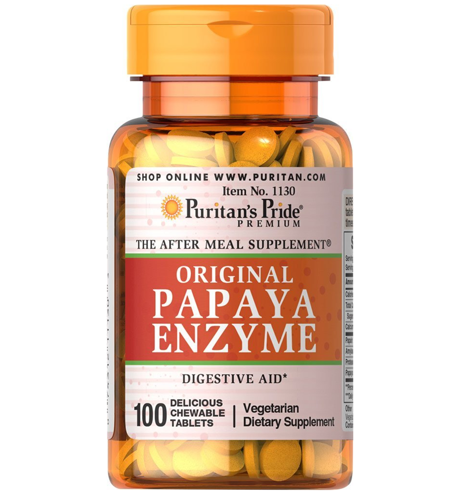 Puritan's Pride Papaya Enzyme / 100 Chewables