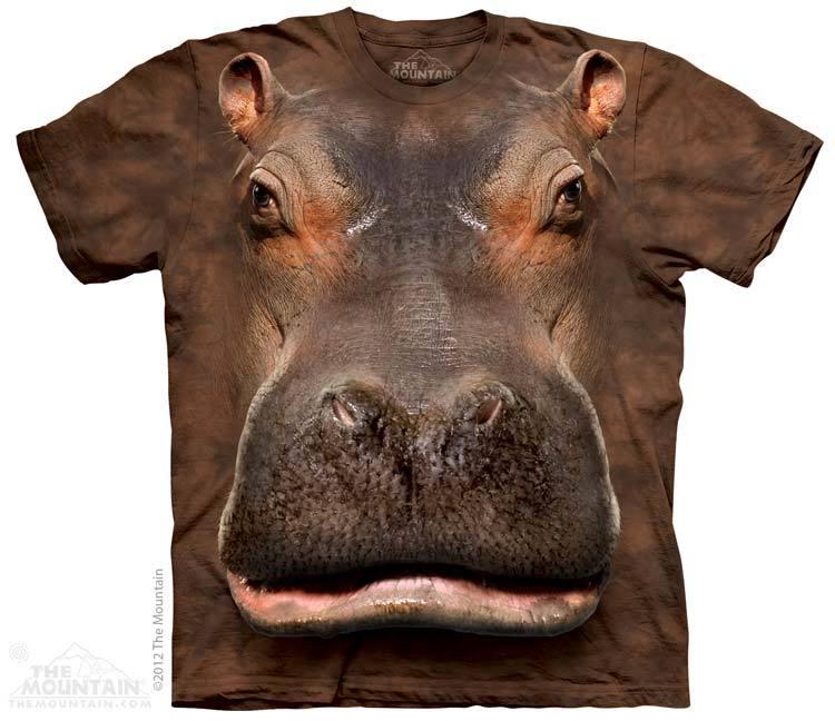 เสื้อยืด3Dสุดแนว(HIPPO HEAD T-SHIRT)