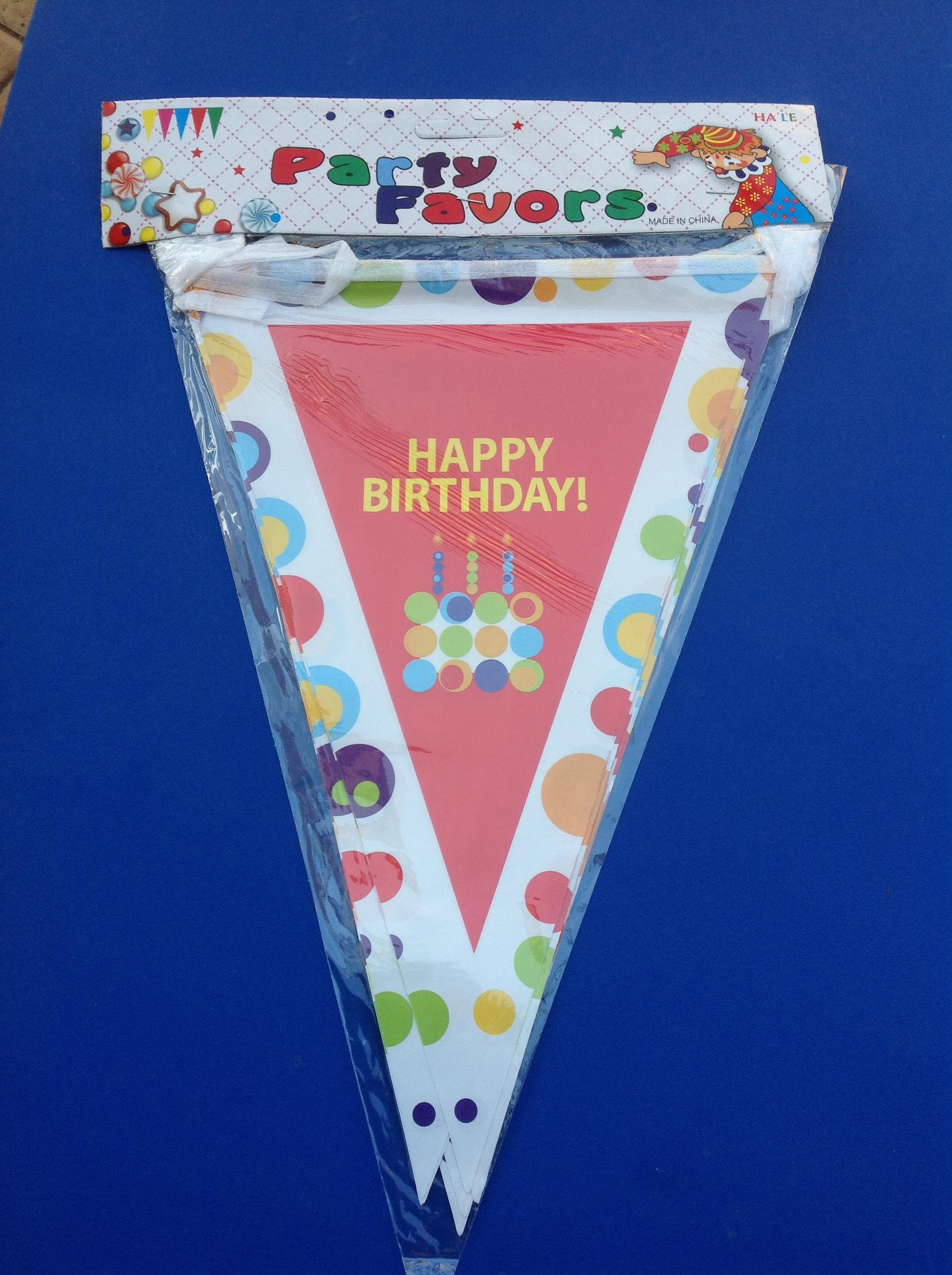 พร้อมส่งค่ะ Let's have a party ธงราวประดับงานวันเกิด
