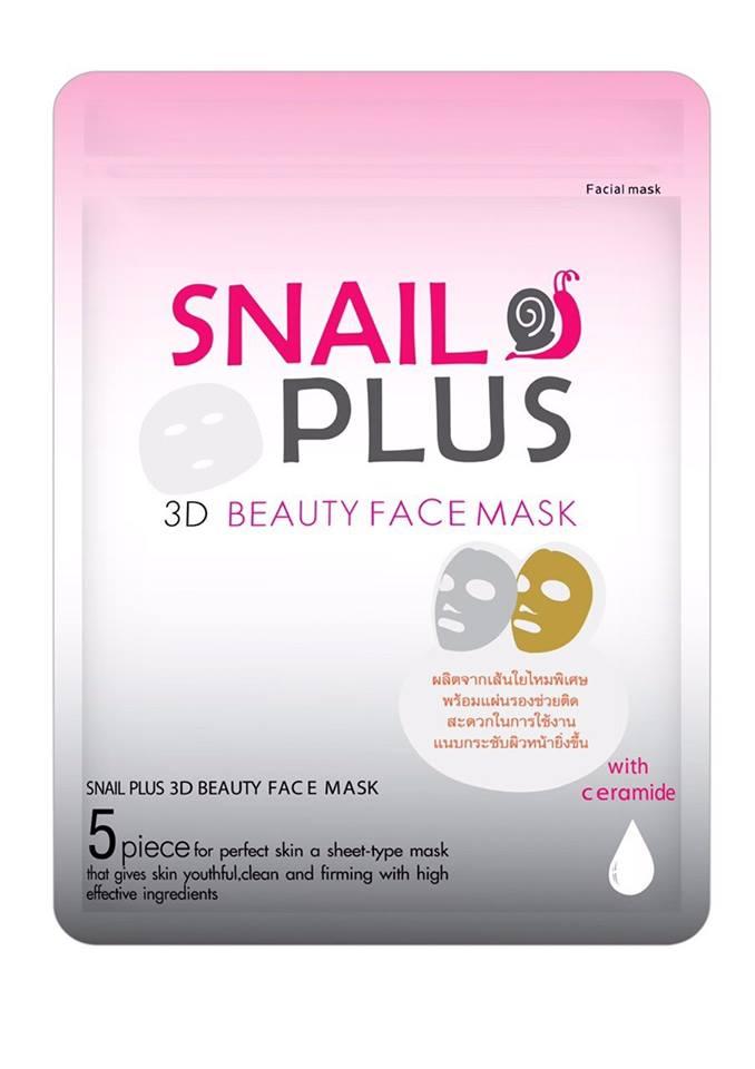 SNAIL PLUS 3D BEAUTY FACE MASK 1*5แผ่น/ซอง