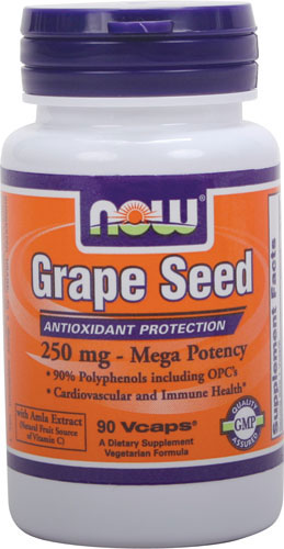 Now Foods - Grapeseed 250 mg Mega Potency 90 Capsules