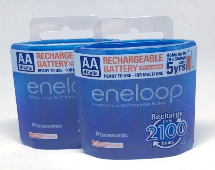 ถ่านชาร์จ Panasonic Eneloop AA พลาสติก จำนวน 8 ก้อน ของแท้ ผลิต 2018