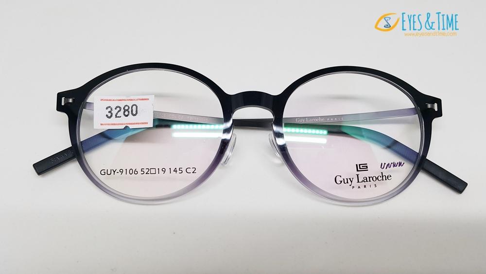 กรอบแว่นตา Guy Laroche ทรงหยดน้ำ รุ่น GUY-9106 ของแท้ ยืดหยุ่นสูง
