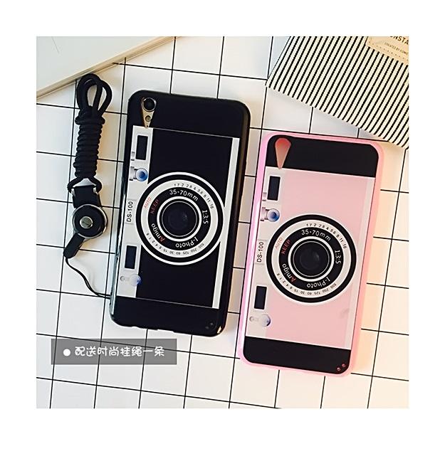 (178-002)เคสมือถือ Case OPPO R9 Plus เคสอะคริลิคลายกล้องถ่ายรูปพร้อมสายห้อย