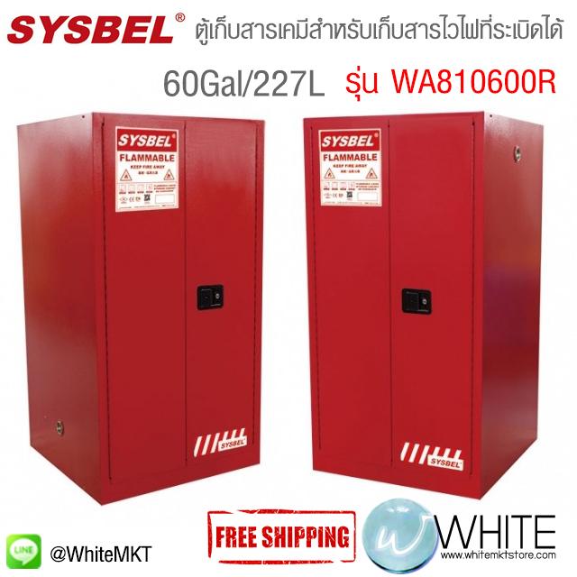 ตู้เก็บสารเคมี ป้องกันการสันดาป ระเบิด สำหรับเก็บของเหลวไวไฟ Safety Cabinet|Combustible Cabinet (60Gal/227L) รุ่น WA810600R