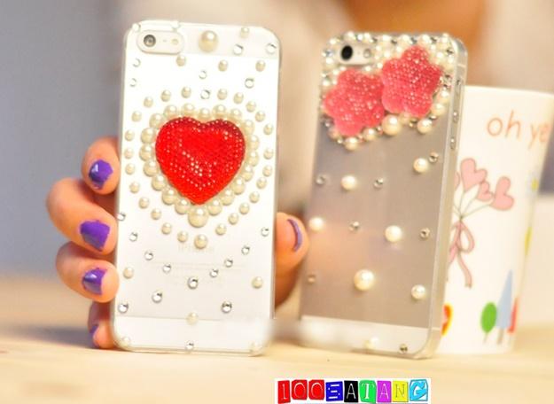 (พร้อมส่ง)เคสมือถือไอโฟน case iphone 5/5s เคสใสคริสตัลหัวใจ มิกกี้เมาส์