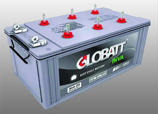 แบตเตอรี่ดีพไซเคิล ( Battery Deep cycle ) 120Ah 12V ยี่ห้อ GLOBATT ( INVA )