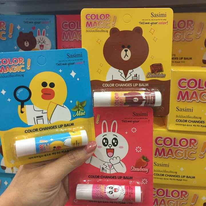 Sasimi Color Magic Color Changes Lip Balm ลิปไลน์ ลิปมันเปลี่ยนสีชมพู