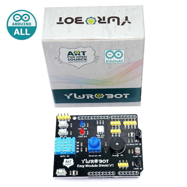 Arduino Easy Module Shield Learning Multifunctional Expansion Board บอร์ดทดลอง Arduino อเนกประสงค์ ของแท้จาก YwRobot