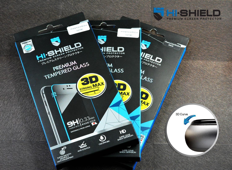 iPhone 6, 6s (เต็มจอ/3D) - กระจกนิรภัย Hi-Shield 3D Strong Max แท้