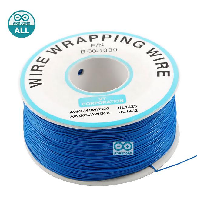 สายไฟอ่อนขนาด 30AWG 1 ม้วน ยาว 250 เมตร สีน้ำเงิน