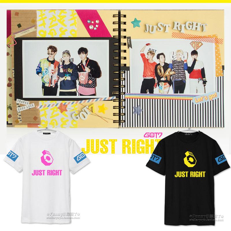 เสื้อยืด GOT7 ALBUM JUST RIGHT -ระบุสี/ไซต์-