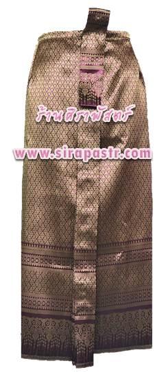 """ผ้าถุงป้าย-หน้านาง BN-2 (เอวใส่ได้ถึง 32"""") สีชมพู-ม่วง *แบบสำเร็จรูป-รายละเอียดตามหน้าสินค้า"""