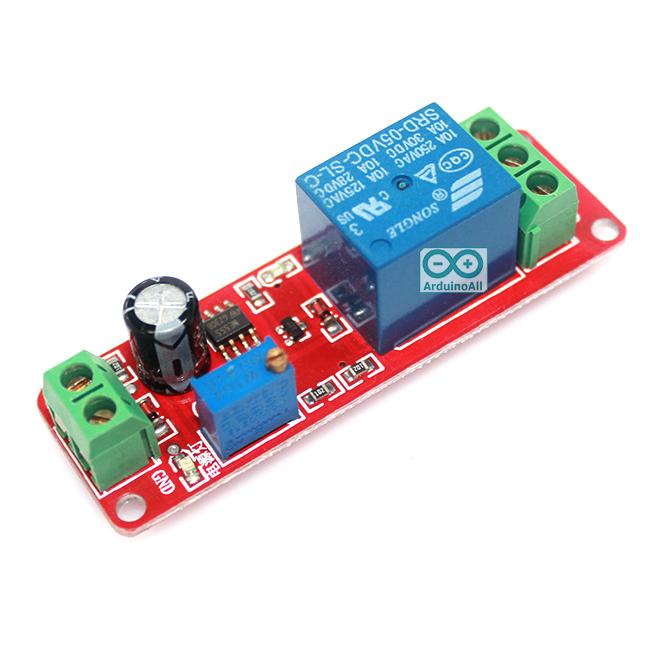 รีเลย์ หน่วงเวลา เปิด/ปิด สลับกันเรื่อย ๆ 5 โวลต์ Delay Relay Module Time Delay Switch Delay Timer Relay 1-10s Fiaed Cycle DC 5V
