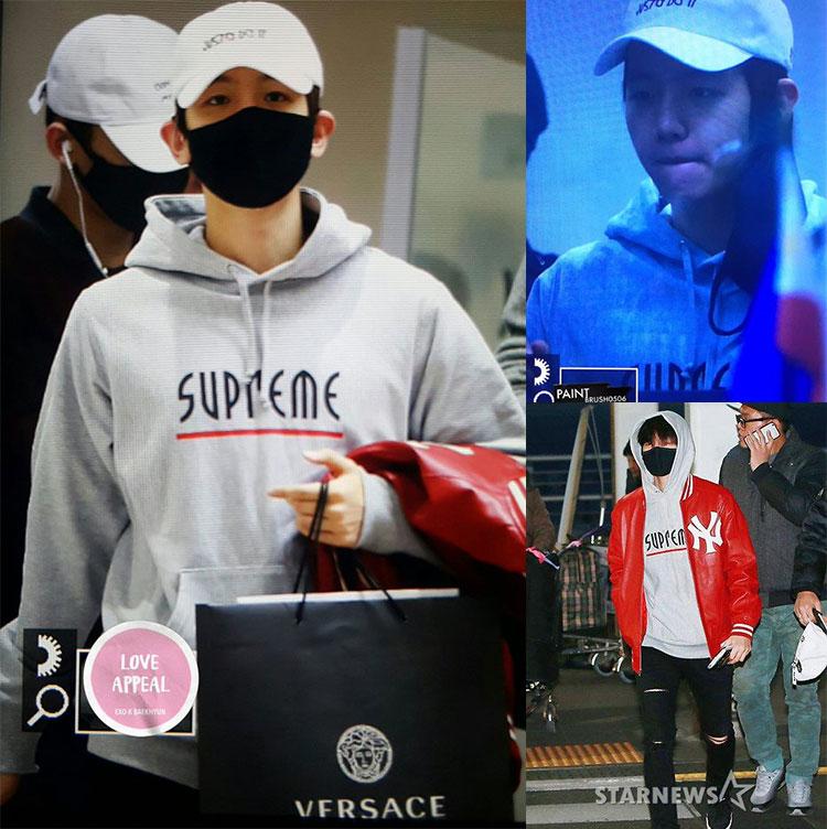HOODIE Supreme LINE Sty.Baekhyun -ระบุสี/ไซต์-