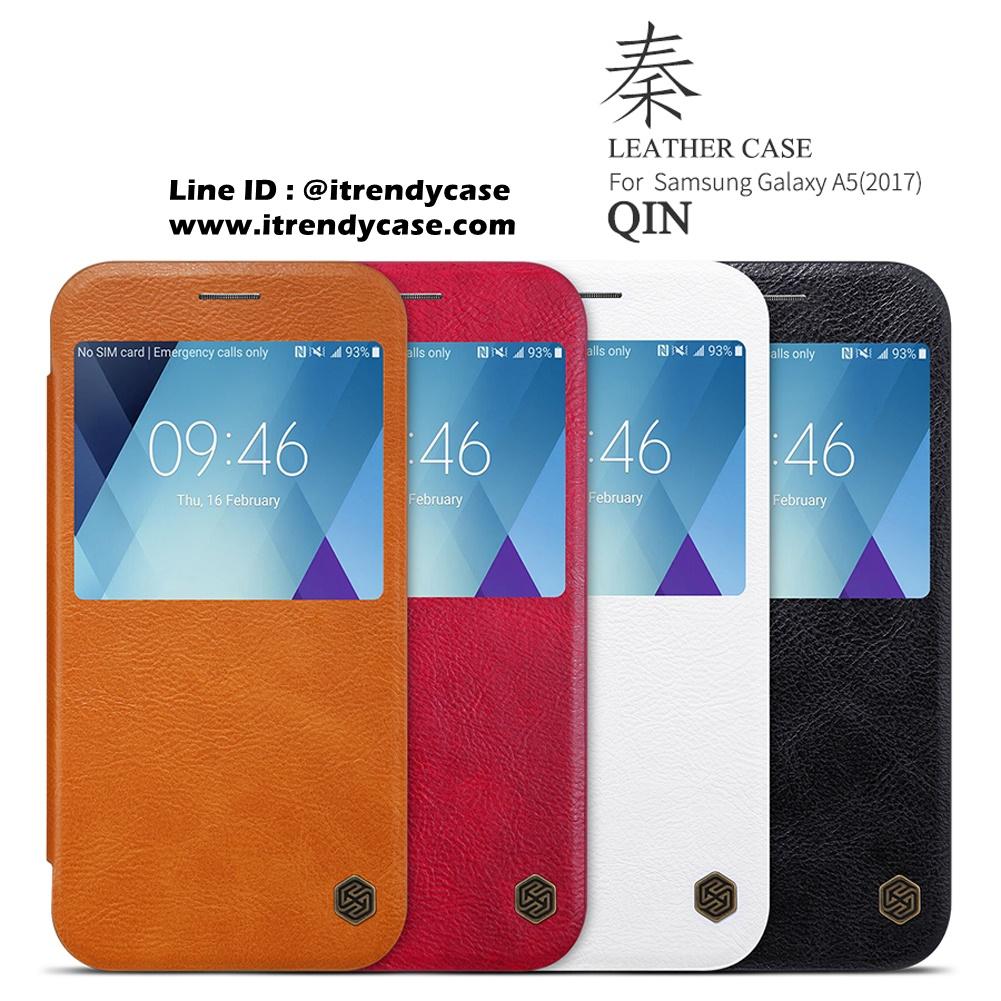 Samsung A5 2017 - เคสฝาพับ หนัง Nillkin QIN Leather Case แท้
