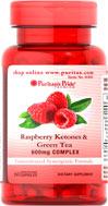 Raspberry Ketones & Green Tea 600 mg. สูตรนี้ ราสเบอรี่คีโตน เข้มข้นสุดๆ 60 เม็ดจาก Puritan's Pride