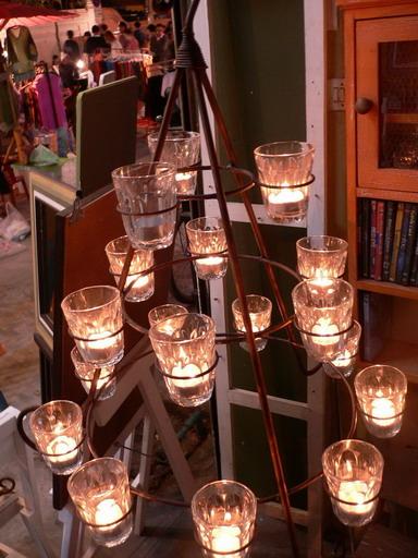 เชิงเทียนเหล็กดัดทรงต้นคริสต์มาส