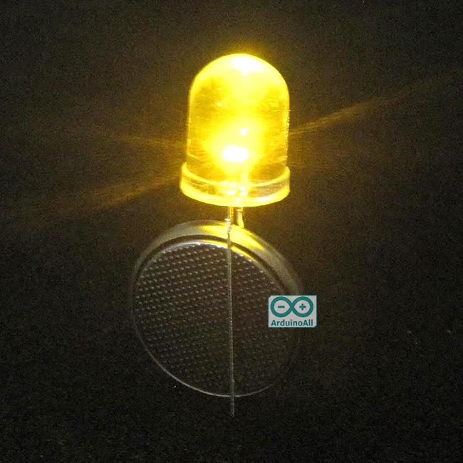 LED 10mm ไฟ LED 10mm สีเหลือง
