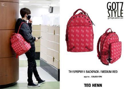 กระเป๋าเป้ MARK GOT7 Sty.TEO HENN BACKPACK MEDIUM RED