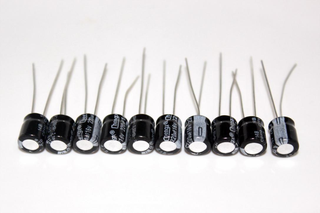 ตัวเก็บประจุ Capacitor 220uF 16V จำนวน 10 ชิ้น
