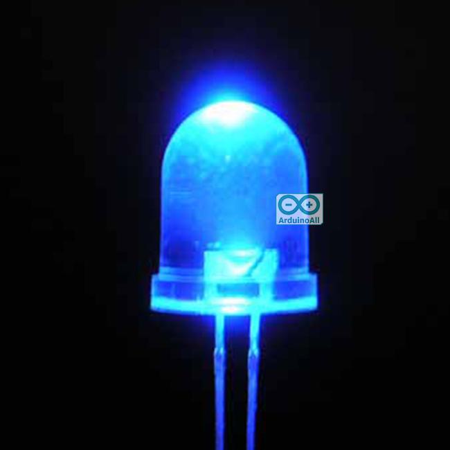 LED 10mm ไฟ LED 10mm สีน้ำเงิน