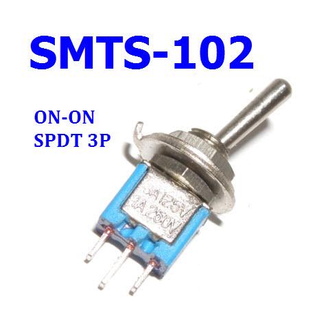 SMTS-103 3A 125VAC ( ON-ON /SPDT/ 3P)