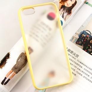 เคสไอโฟน 5/5s/SE เคส TPU ขอบเหลือง + หลังพลาสติก คลุมรอบเครื่อง