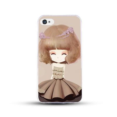 เคสไอโฟน 5/5s/SE (เคสนิ่มคลุมรอบเครื่อง) สาวเกาหลีน่ารัก แบบ 3