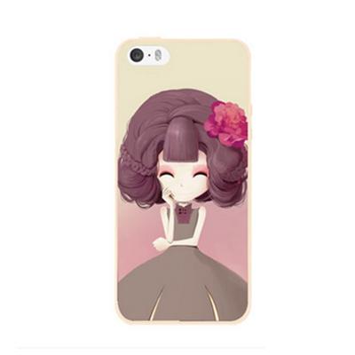 เคสไอโฟน 5/5s/SE(เคสนิ่มคลุมรอบเครื่อง) สาวเกาหลีน่ารัก แบบ 12