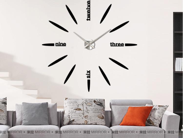 นาฬิกาDIY ขนาดจัมโบ้90cm สีดำ big4A