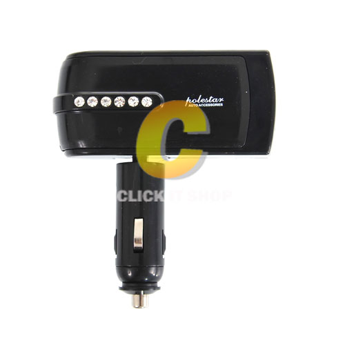 USB Dual Car Charger & Twin Sockets (WF-0302)