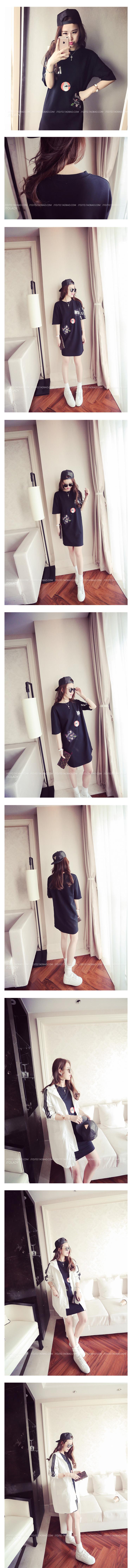 เดรสเสื้อยืดแฟชั่นเกาหลีสกีนลายน่ารัก JY0018