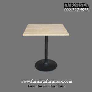 โต๊ะขาแชมเปญ 60x60 สีธรรมชาติ สำหรับแต่งร้านอาหาร ร้านกาแฟ
