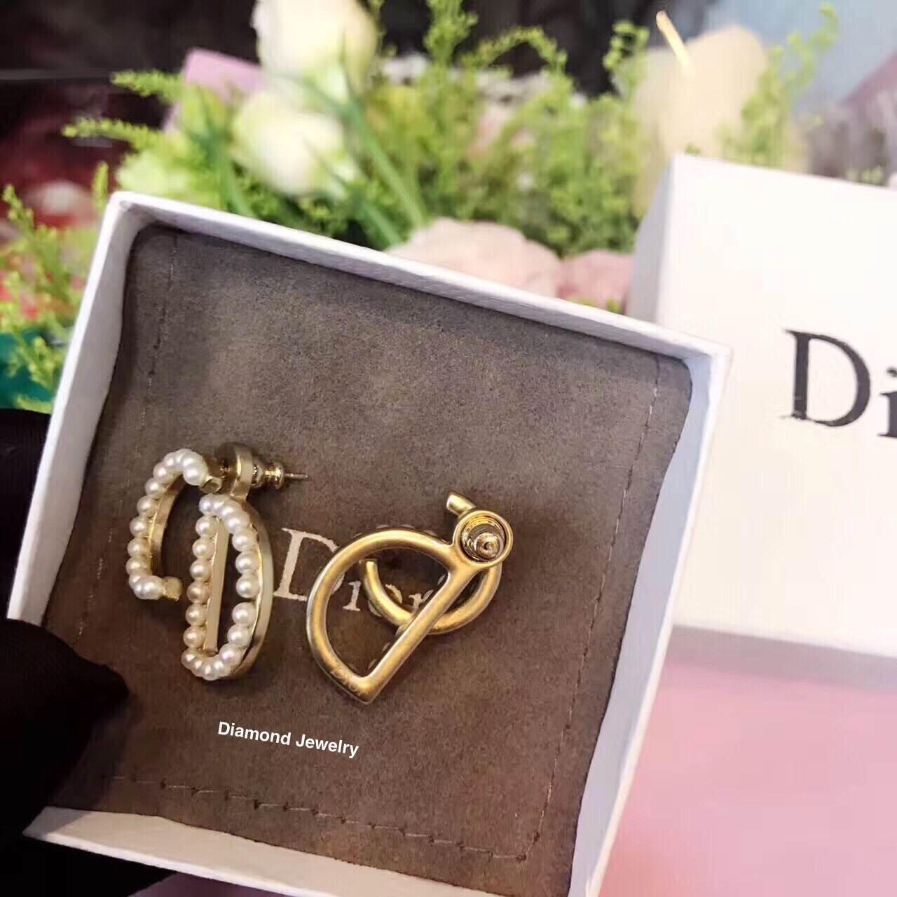 พร้อมส่ง Dior Earring เพชร CZ แท้