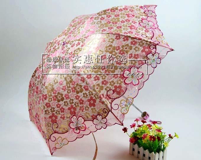 umbrella ร่มกันแดด ป้องกันรังสี UV ลวดลายดอกไม้ หวานๆ ค่ะ (ตัวแทน 550บาท)