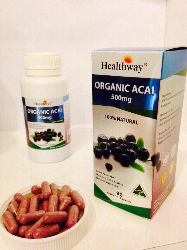 พร้อมส่ง Healthway organic acai 500mg